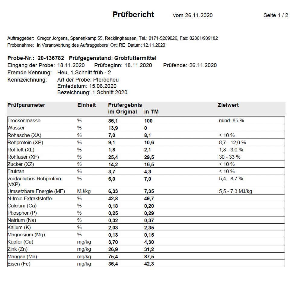 Prüfbericht vom 26.11.2020 1/2